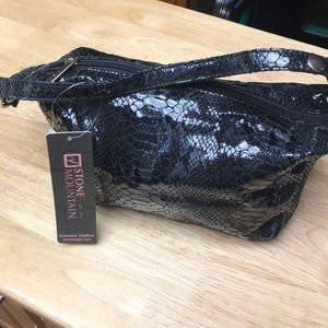 NWT Snakeskin Patent Leather Midi bag
